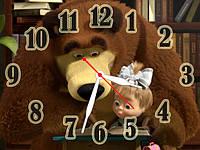 Часы настенные B 86  Маша и Медведь, 30х40 для кухни, гостиной, детской, спальни. Подарок