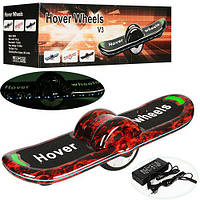 Ховерборд AB-02-3 Hover Wheels красный, черный. Колёса 6 дюймов, самобаланс, колонка, блютуз.