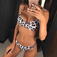 """Стильный раздельный купальник  """"Леопард"""" , фото 1"""