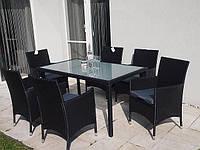 Комплект стол + 6 кресел из ротанга, фото 1