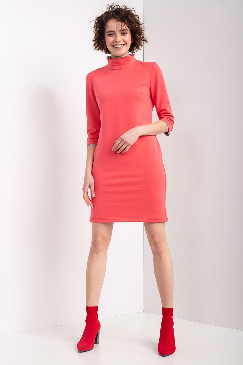 c12347964d09564 Трикотажное платье ROLL S в спортивном стиле кораллового цвета - motus в  Ивано-Франковске