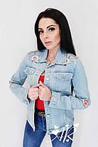 Модная и стильная джинсовка с цветами. Размер 42-44, 44-46, фото 2