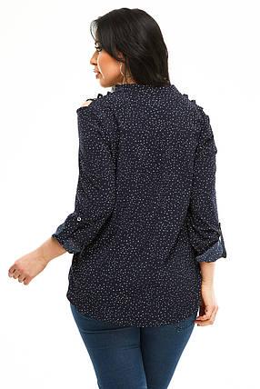 Блузка 5291 темно-синий  горох, фото 2