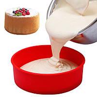 Силиконовая форма круглая для торта 24 см