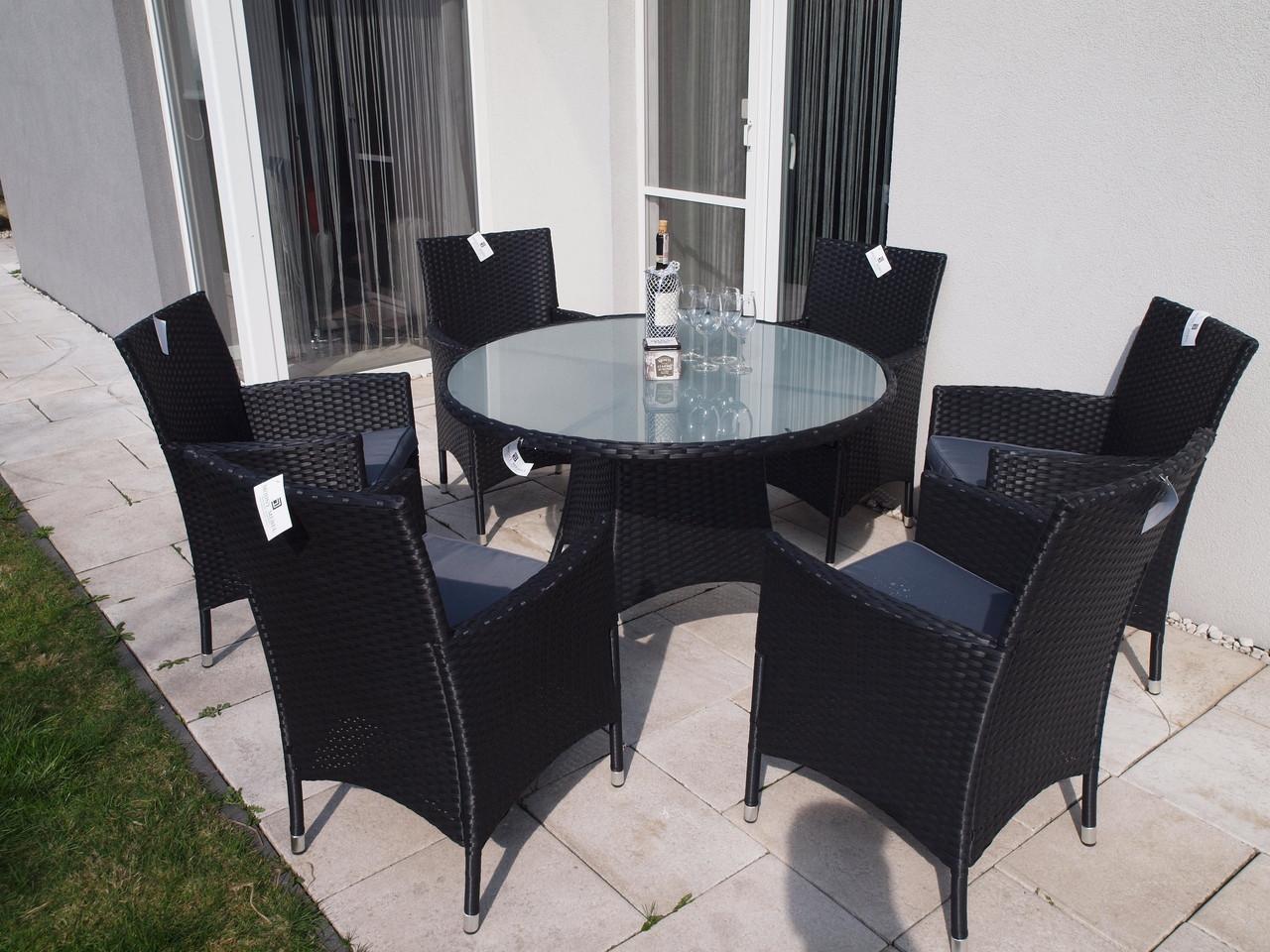 Комплект меблів круглий стіл з кріслами із ротангу