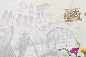 Скатерть водоотталкивающая Венеция молоко, тм Идея (140*170см), фото 3