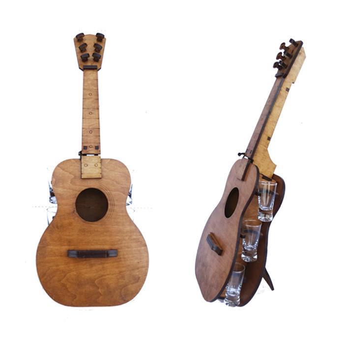 Мини-бар Гитара с рюмками