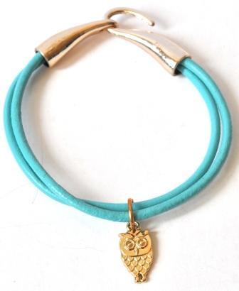 Бирюзовый браслет с совой