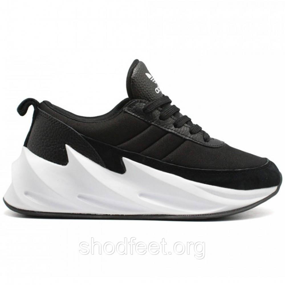 Женские кроссовки Adidas Shark Boost Black Grey