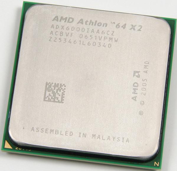 """Процессор AMD Athlon 64 X2 6000+ ADX6000IAA6CZ 3.0GHz sAM2 """"Over-Stock"""" Б/У"""