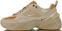 Женские кроссовки Nike M2K Tekno SP Linen / Ale Brown - Wheat BV0074-200 (Найк Текно) бежевые