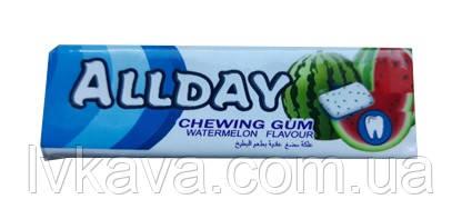 Жевательная резинка  Allday арбуз, 14 гр