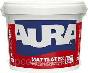 Aura Mattlatex 10 л быстросохнущая краска для стен и потолков арт.4820166520251 Белая