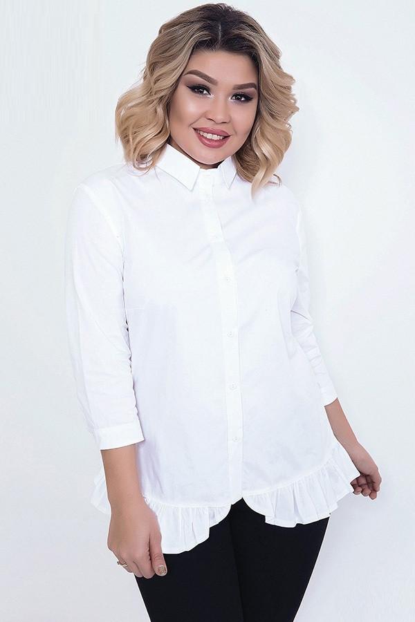 Женственная рубашка из коттона 43311 (48–54р) в расцветках, фото 1
