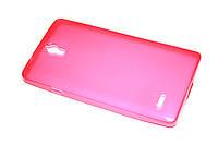 Глянцевый TPU чехол для Huawei Ascend G700 розовый