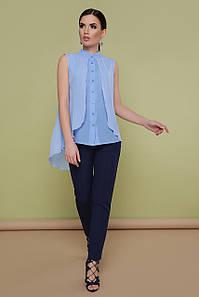 Женская голубая блузка из шифона Санта-Круз б/р