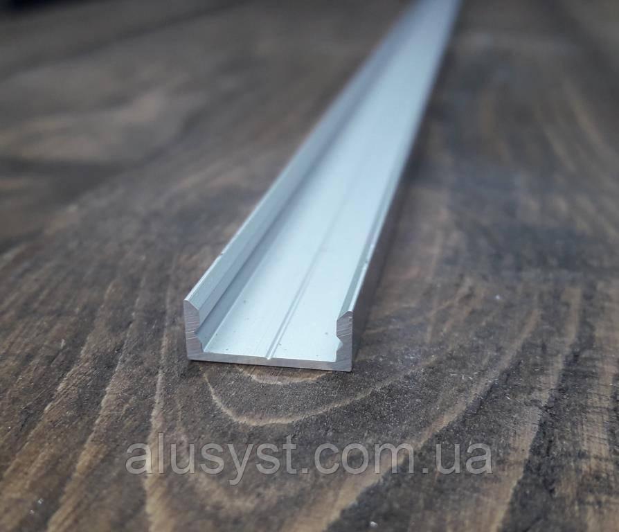 Профиль для светодиодной ленты 16х7 анод. Длина планки 2мп