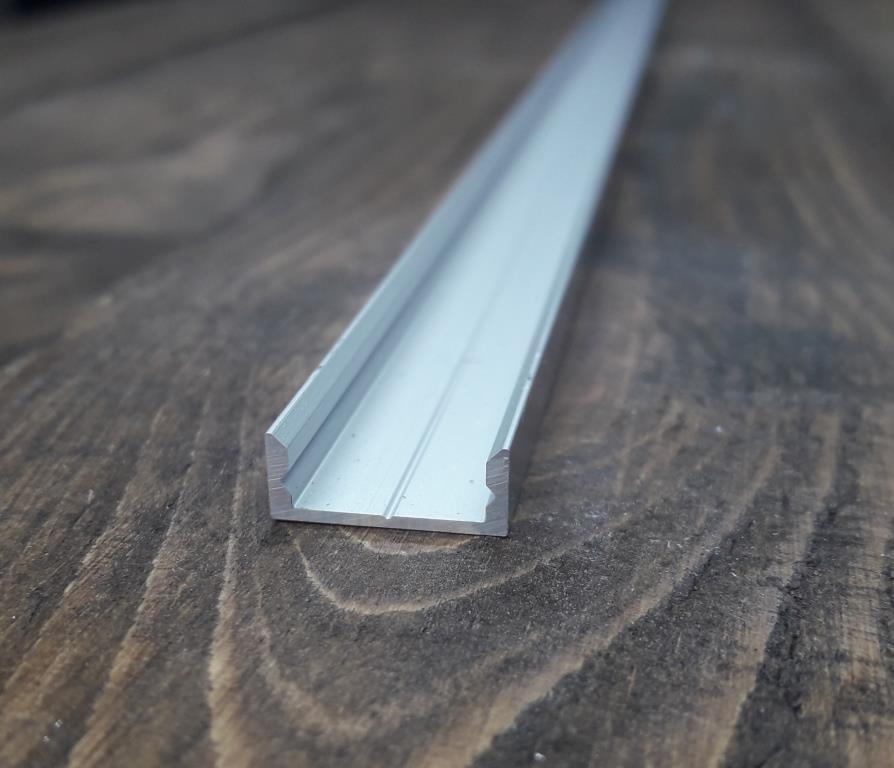 Профиль для светодиодной ленты 16х7 анод. Длина планки 2мп, фото 1