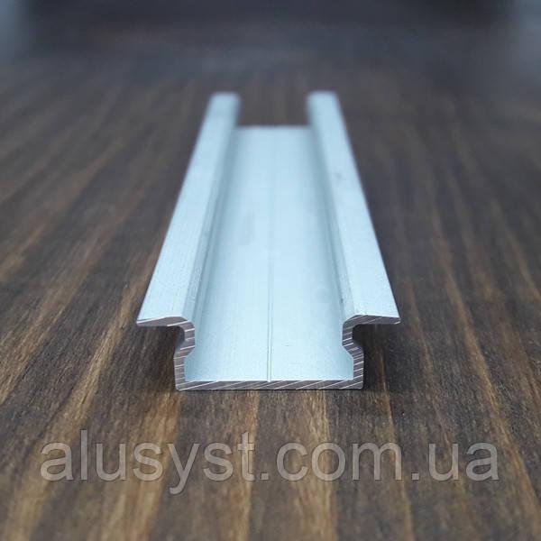 Врезной профиль для светодиодной ленты,16х7 анод. L-2метра