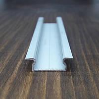Врезной профиль для светодиодной ленты,16х7 анод. L-2метра, фото 1