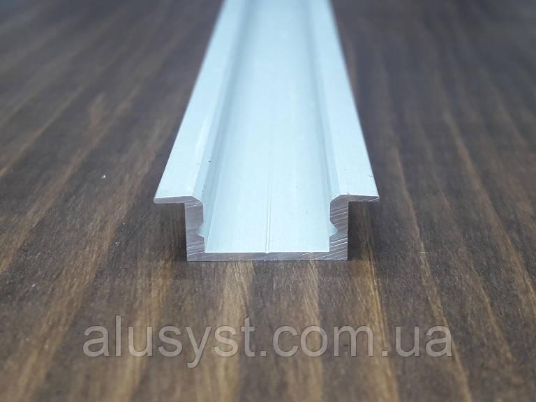 Алюминиевый профиль врезной 16х7 для Led ленты, анод. L-3метра