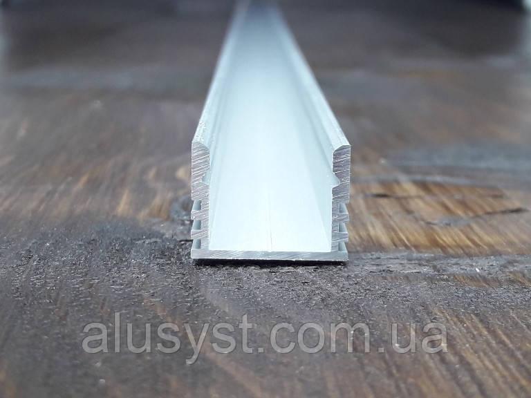 Лэд профиль светодиодный 16х12, анод. Длина планки 2мп