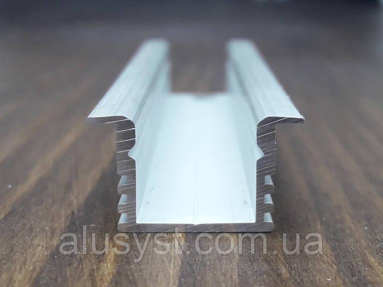 Радиатор охлаждения врезной для Led ленты. 16(22)х12, анод. L-3метра