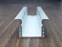 Радиатор охлаждения врезной для Led ленты. 16(22)х12, анод. L-3метра, фото 1