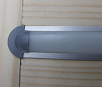 Светодиодный профиль врезной ЛПВ7 анод. Комплект 2мп (профиль+рассеиватель матовый+ заглушка), фото 1