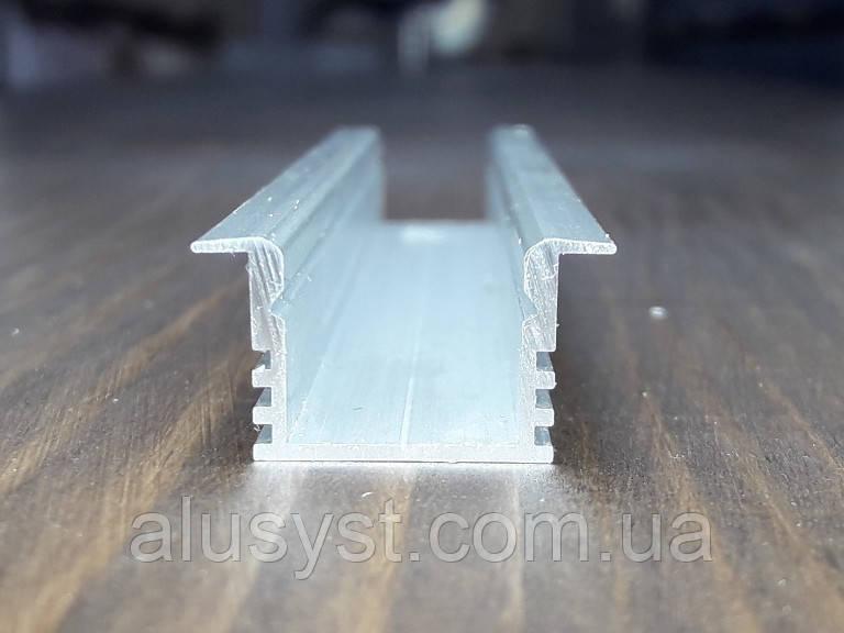 Светодиодный led профиль врезной ЛПВ12 анод. Длина планки 2м
