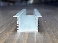 Светодиодный led профиль врезной ЛПВ12 анод. Длина планки 2м, фото 1