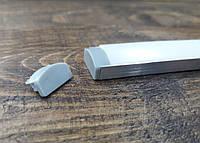 Светодиодный профиль Z306 (ЛП7) без покрытия. Комплект 1мп (профиль+рассеиватель матовый+ заглушка), фото 1