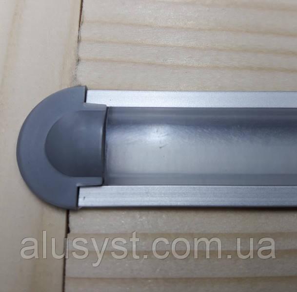 Светодиодный led профиль врезной ЛПВ12 анод. Комплект 1 мп (профиль+рассеиватель прозрачный+ заглушка)
