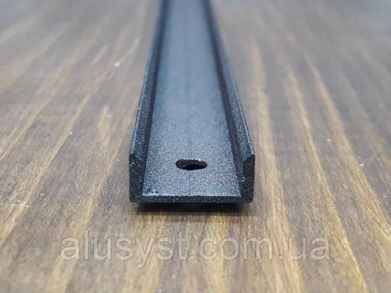 Профиль для светодиодной ленты z306 (аналог ЛП7) черный. Длина планки 2мп