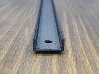 Профиль для светодиодной ленты z306 (аналог ЛП7) черный. Длина планки 2мп, фото 1
