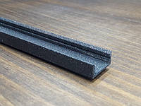 Профиль для светодиодной ленты z306 (аналог ЛП7) черный с блестками. Длина планки 2мп, фото 1