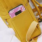 Рюкзак для девочки подростка с котом и помпоном голубой в стиле Канкен, фото 3