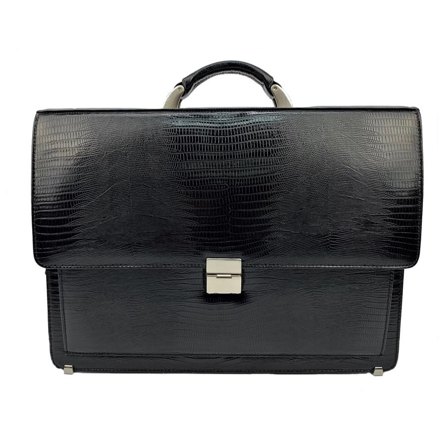 28862d0497d0 Мужской портфель кожаный Desisan 216-143 черный с тиснением -  Интернет-Магазин