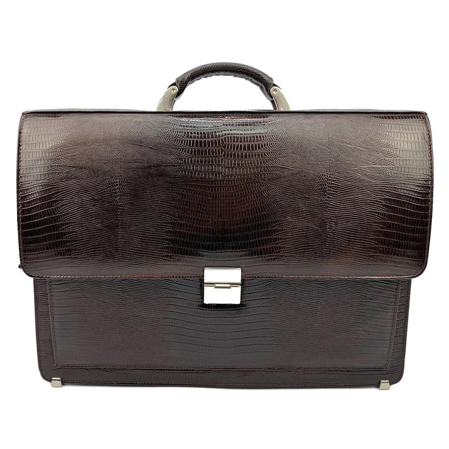 a18906034d0f Мужской портфель кожаный Desisan 216-142 коричневый с тиснением ...