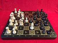 Шахматы деревянные подарочные 44 см с классическими утяжеленными фигурами Стаунтон №6