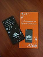 Новогодняя открытка из шоколада