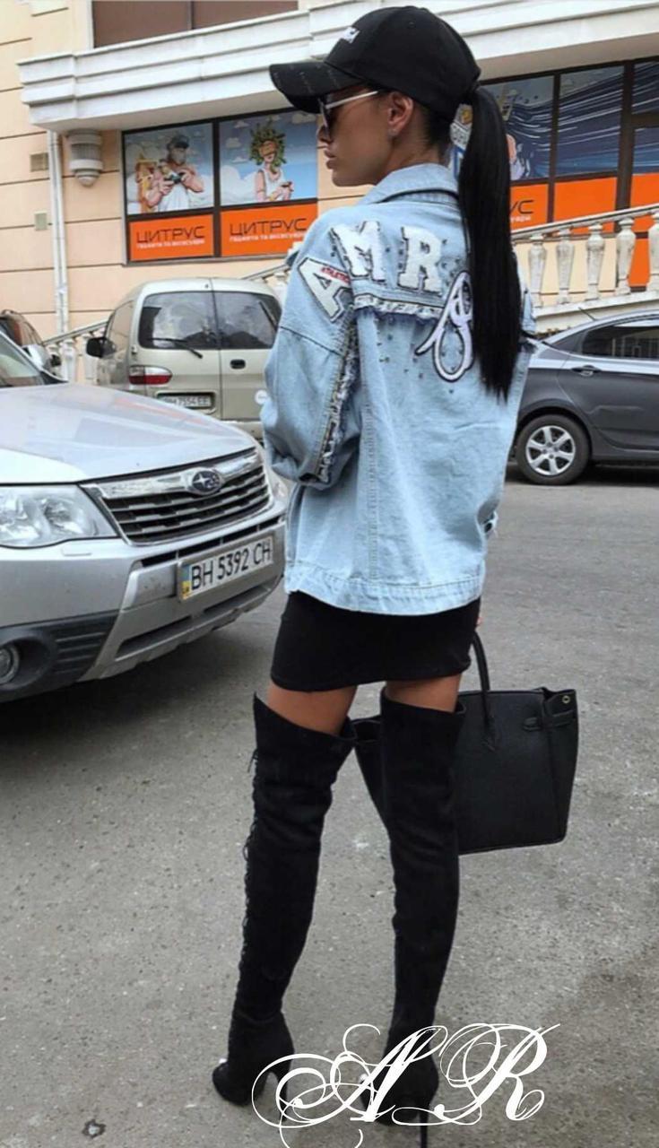 Стильная джинсовая куртка, жакет. Размер 44-46, 46-48