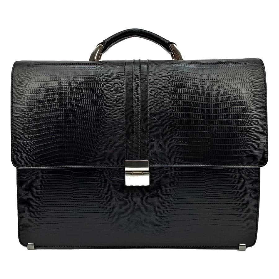 2a9b52df9b57 Мужской портфель кожаный Desisan 317-143 черный с тиснением - купить ...