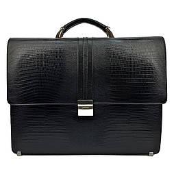 Мужской портфель кожаный Desisan 317-142 коричневый с тиснением
