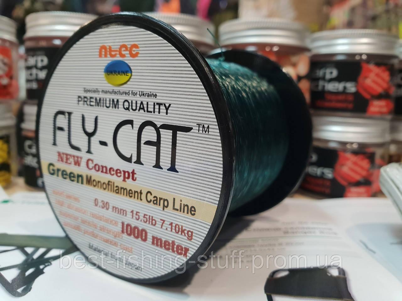 Оригинальная Леска Fly Cat 1000м Япония зеленая