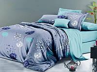 Евро размер постельное белье бязь «Одуванчики бирюза»