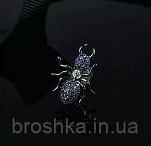Серьги гвоздики муравьи с синими камнями бижутерия, фото 3