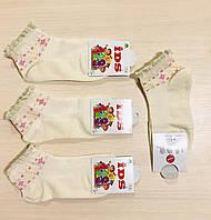 Носки детские летние сетка девочка хлопок IDS Турция, ароматизированные, размер 7-9 лет (32-34)