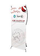 Дизайн и печать баннеров (паук, Х-баннер) монопородной выставки японских шпицев Кубок Восходящего Солнца