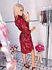 Легкое весеннее платье-рубашка на пуговицах в красивый принт с ремнем в комплекте, фото 4